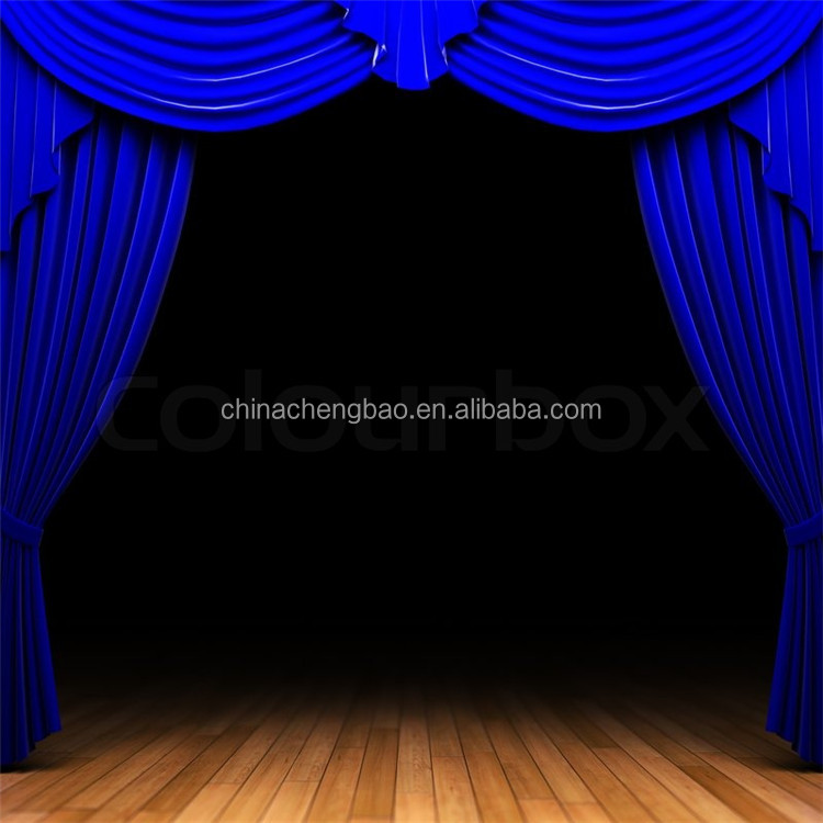 Blue velvet fabrics used stage curtains for sale