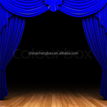 Blue Velvet Fabrics Used Stage Curtains For Sale Buy