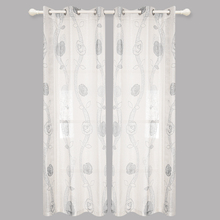 Modern Luxury Royal Printed Voile Curtains Design Floral Blind For Window