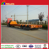 Widely used low bed semi trailer/low flat deck truck