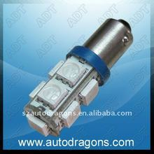 T10 SMD car led light with 9 pcs 5050 blue color