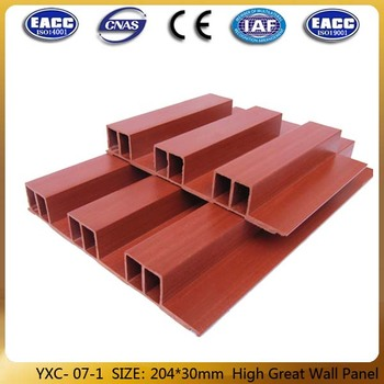 Wood design printing series pvc wall panel --YXC-07-1