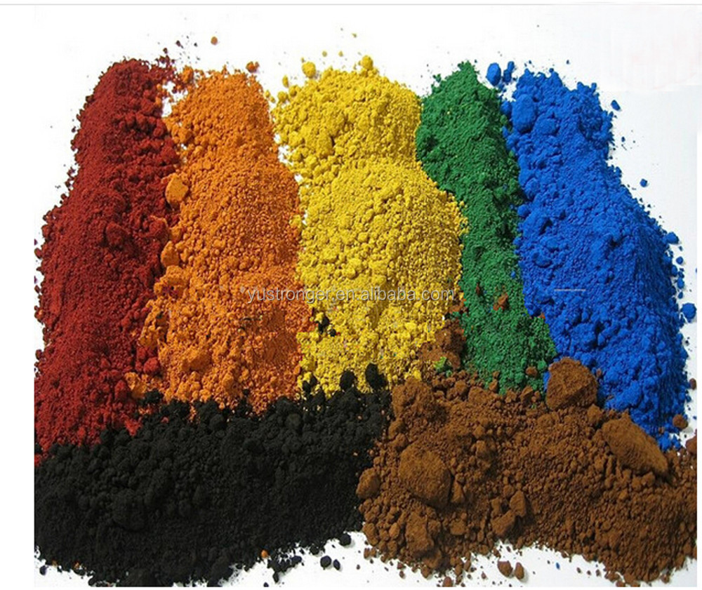 Iron oxide color pigments for pvc