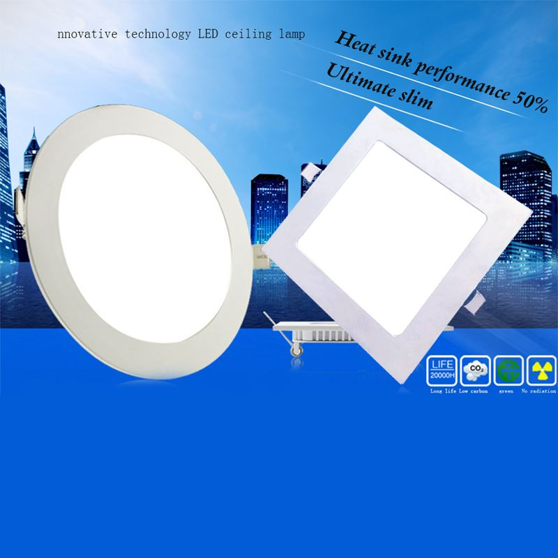 4pcs/lot Round/Square Led Downlights 3W 4W 6W 9W 12W 15W 18W 220V LED Panel Light Ceiling Lamp Indoor Lighting Cold