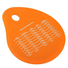 oval shape silicone scrapers,spatula measurement conversion silicone bowl scraper, for dough silicone baking tools