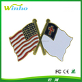 USA Flag/Christian Flag Lapel pin