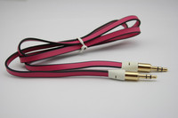 economical fashion audio AUX flat cable DC 3.5 mm male to male