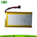 rechargeable polymer lithium battery GEB105085 3.7V 5000mAh for digital products