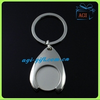 custom euro metal coin holder keychain
