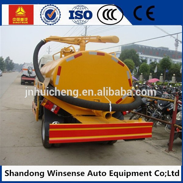 hot sale 290hp 6 wheel dongfeng 5ton sewer road sweeper vacuum cleaner truck