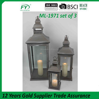 High-grade metal hanging metal lantern stand out decoration ML-1971 set of 3