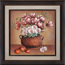 FY6-H2 53.5*53.5 3d framed flower painting 3d flower framed photo picture