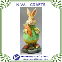 Resin decorative rabbit figurines collectables