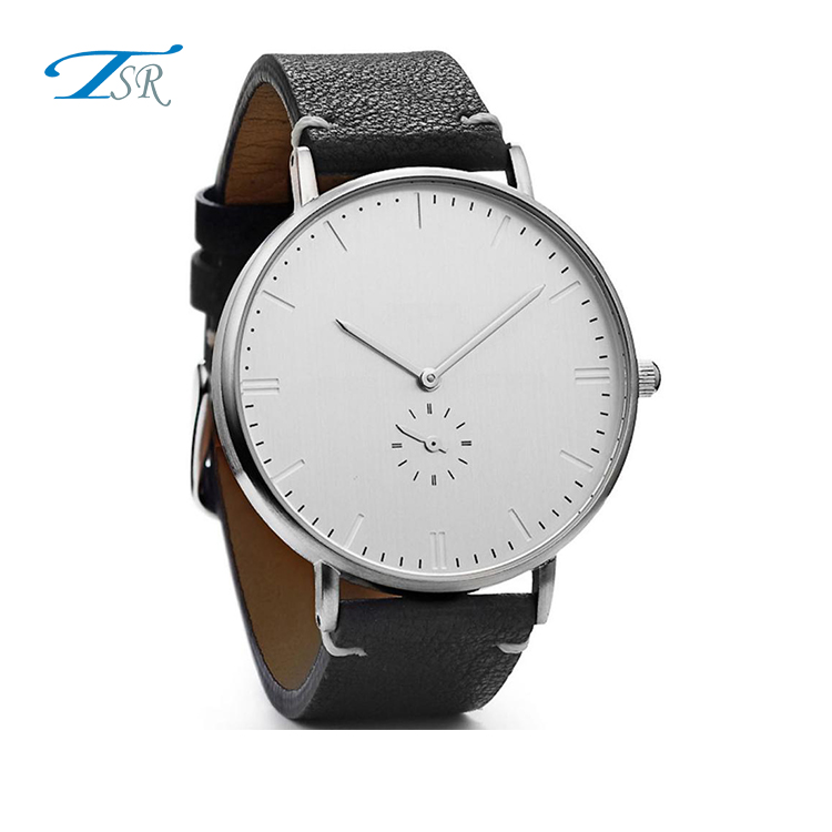 Custom OEM TSR Swiss Movement Watch Luxury Minimalist Fashion Men Wristwatches