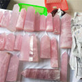 Good quality rose quartz crystal towers pink crystal wands points