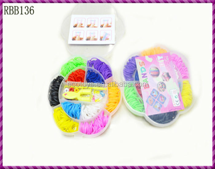 Fashion Multi-Color Loom Rubber Bands Industrial Strength Rubber Bangles For Children