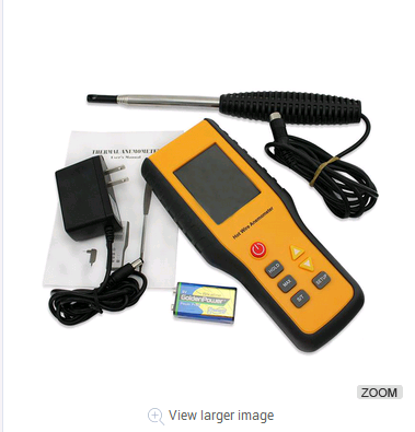 Portable Digital Hot wire Wind Speed Meter Thermal Anemometer