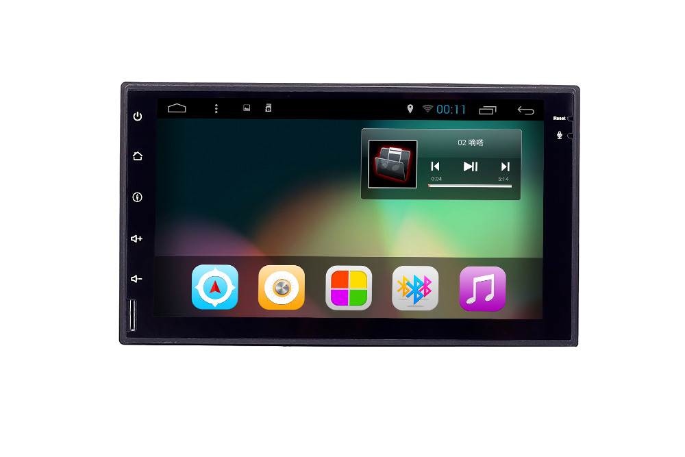 High quality 7 inch touch screen car audio brands with gps/bluetooth/1080p