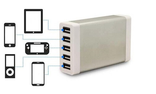 factory wholesale 5 port multi port usb charger for iphone and other smartphone