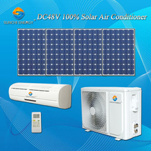 Low price total DC48V variable no AC power wall split 12000BTU 18000BTU solar central air conditioners prices