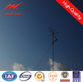 8m 5KN distribution octagonal electric utility pole for distribution project