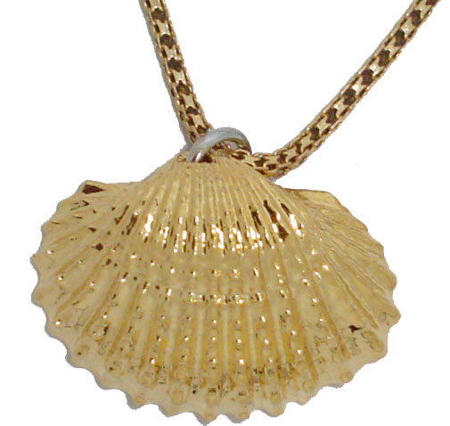 24kt Gold Dipped Sea Shell Pendant