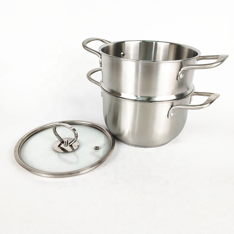 wholesale OEM cheap cooking steamer pot commercial stainless steel double boiler