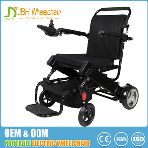 Easy to carry hight quality PU solid tire 2 wheel light power electric wheelchair on sale