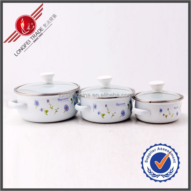 Alibaba Express China Manufacturing 3 pcs set Reoona bakelite handle & knob enamel kitchenware