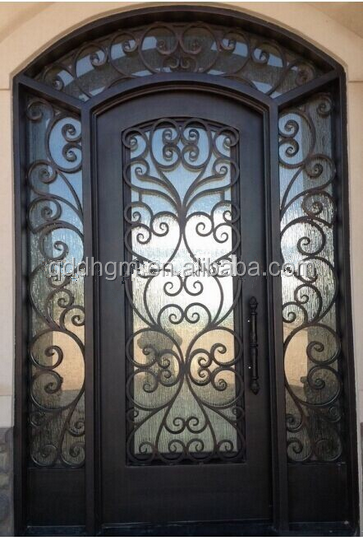 Factory Direct Customized Exterior Wrought Iron Front Door/House Main Gate