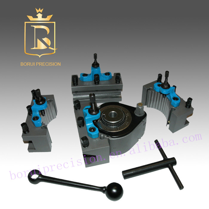 200-400mm lathe swing 40-position quick change tool post set European style contain 5pcs: 1pcs tool post and 4pcs holder