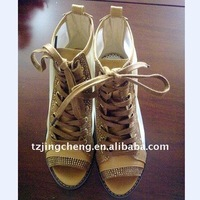 fashion high steel shoes