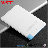 Customized Gift Portable Rohs USB 2500mAh Credit Card Size Small Powerbank with CE FC