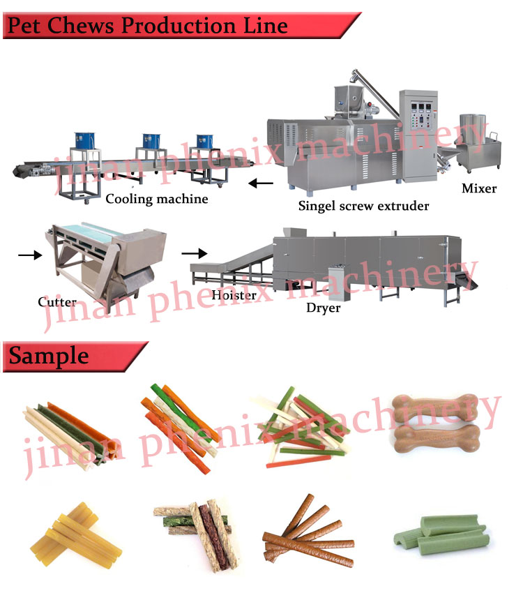 pet dog treat feed extruder making machine