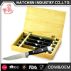 T8 4pcs wood case steak knife set