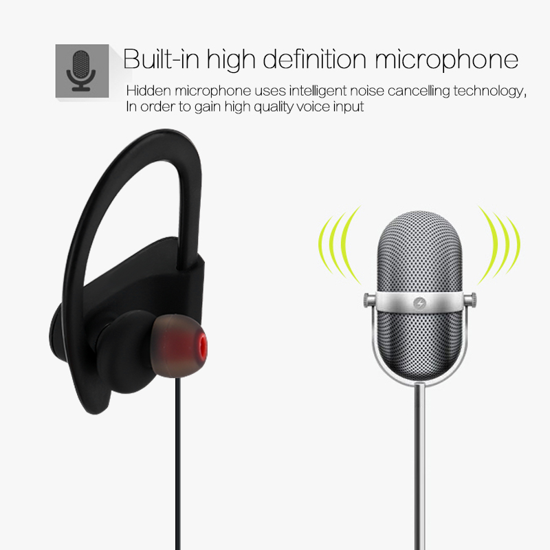 2018 New IPX7 Waterproof Sport Wireless Bluetooth stereo Earphone