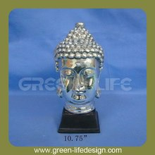 High quality resin budha head with silver plating