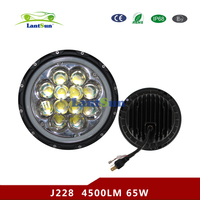 "J228 2016 Newest high power 60W 7"" led HEADLIGHT 7'' round LED angle eye ring round light for Jeep wrangler"