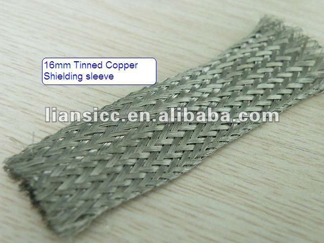 16mm Tinned Copper Shielding sleeving/braided sleeve