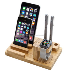 WS01 - Wood Charging Station charging dock for Apple Watch iphone and ipad