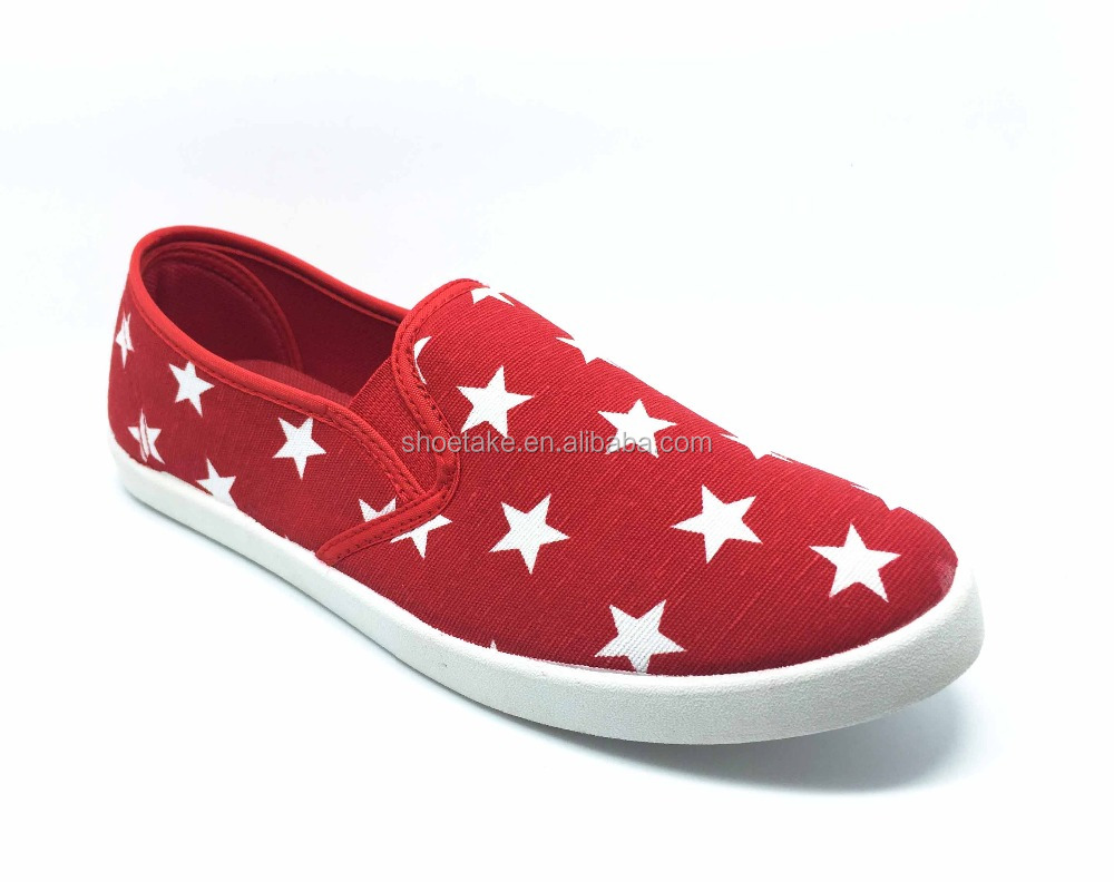 Cheap Star Casual Canvas Shoes with injected PVC 2016-17