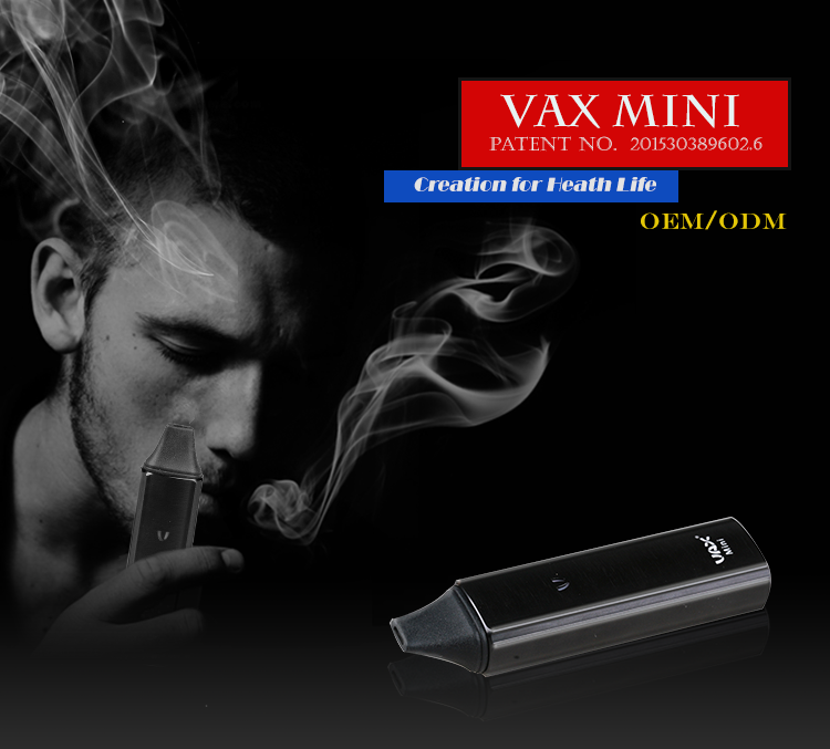 2016 whosale dry herb vape VAX mini dry leaf vaporizer pen fast shipping