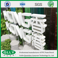 Free Sample No Toxicity Recycled Plastic Sheet 25mm High Gloss PVC Sheet