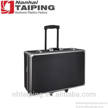 Black Large Hard Photographic Equipment Travel Case with Carrying Handle and Wheels