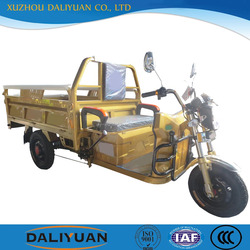 Daliyuan electric cargo assisted pedal tricycle with tricycle electric bicycle