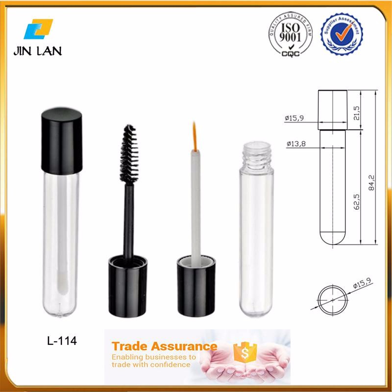 2017 New Product Clear mascara container, eyeliner container round shape lipgloss bottle