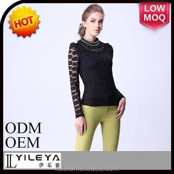 2014 hot fashion cutting blouse design for ladies