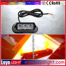 hot sale led amber light bar 3W single Row led light bar signal lamp 4x4 off road accessories