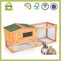SDR15 Wooden industrial Rabbit Hutch with ramp