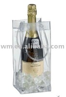 promotional clear PVC ice bag for wine